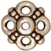 Bead Cap Clover 9mm Antique Silver